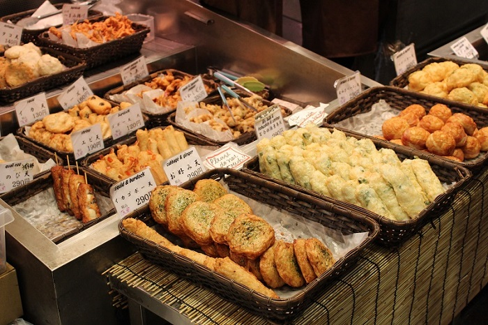 Kyoto's authentic street-food at Nishiki Market.