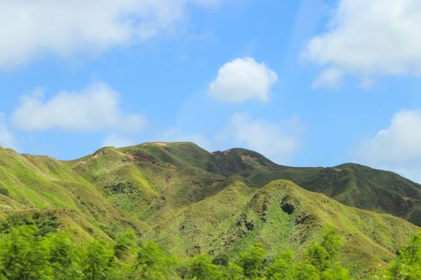 Beautiful hill landscape in Guam
