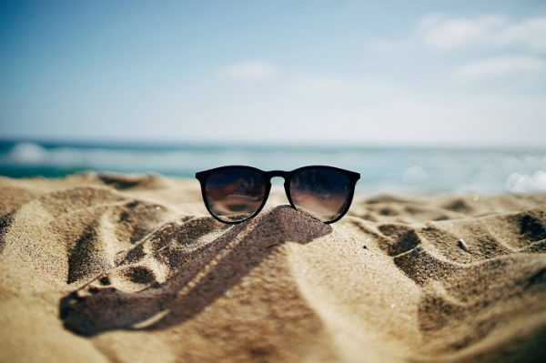 Sunglasses and beach