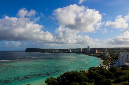 tumon bay view from hotel