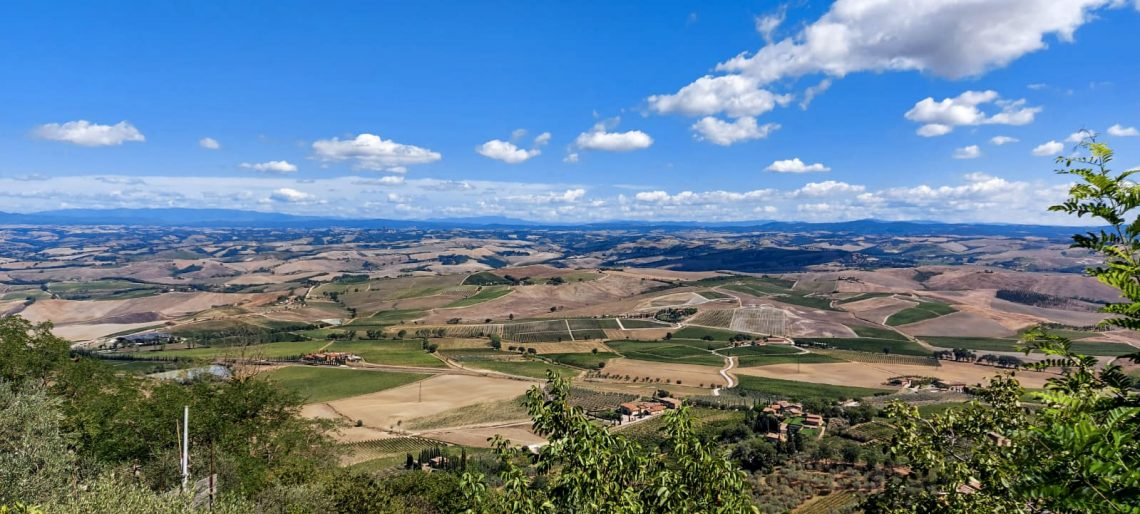 View of Val D'Orcia from Montalcino