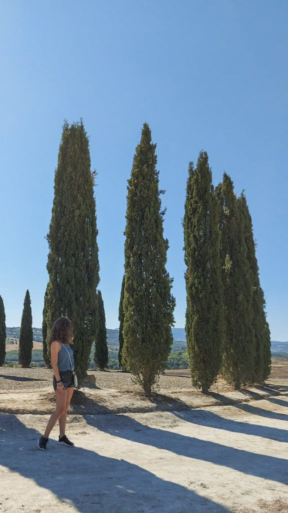 Me posing with cypress trees